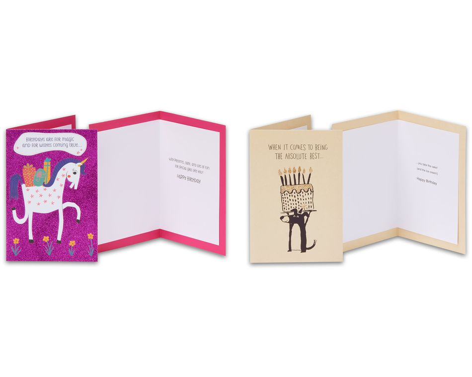 Kids Birthday Greeting Card Collection, 8-Count