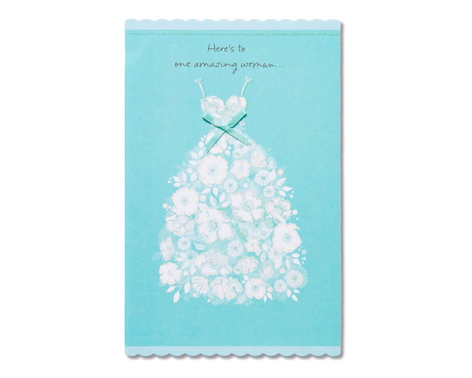 amazing woman bridal shower card