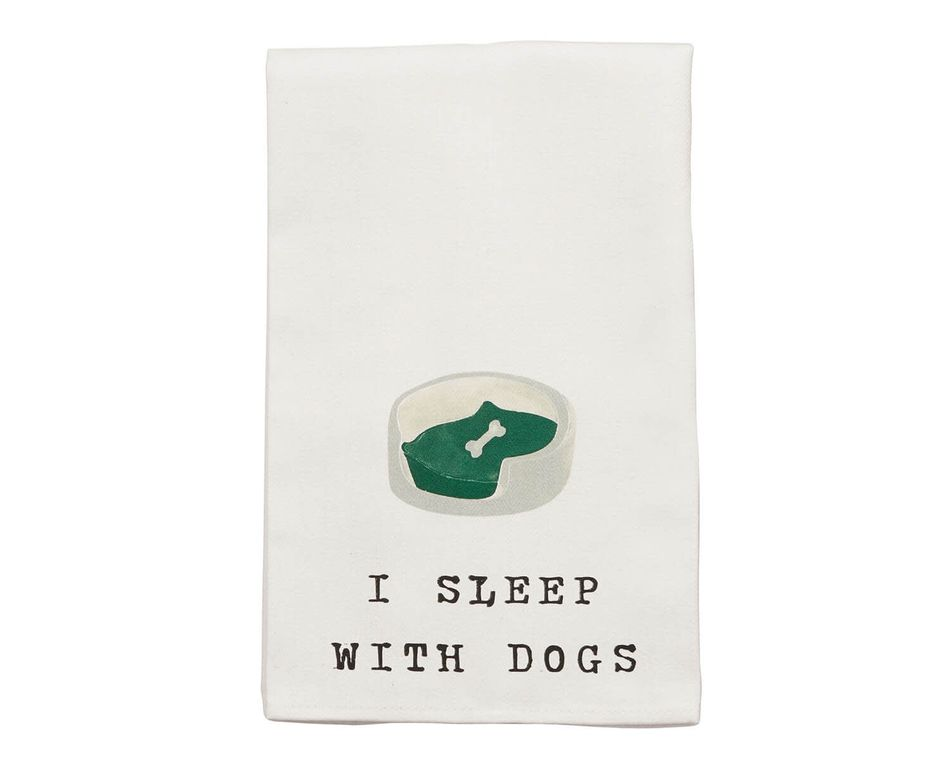 Mud Pie Dog Bed Dish Towel