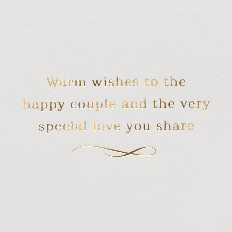 Champagne Toast Wedding Greeting Card
