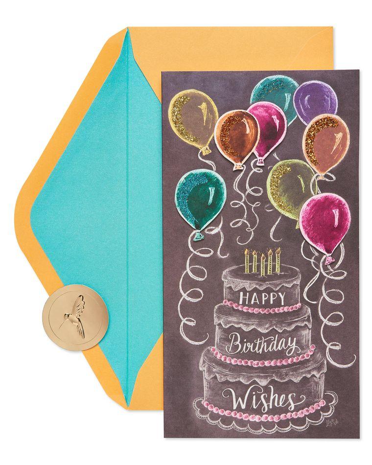 Chalkboard Cake Birthday Greeting Card