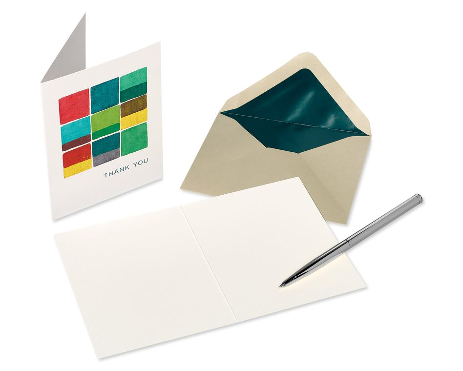 Art Pattern Boxed Blank Note Cards with Envelopes, 20-Count