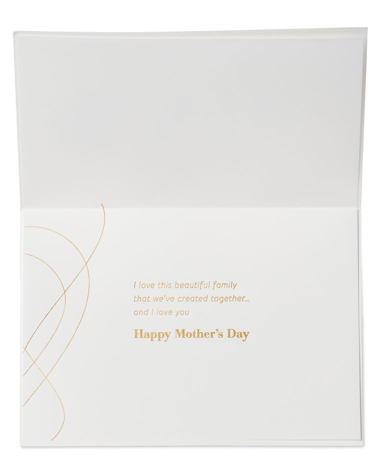 Beautiful Family Mother's Day Card for Wife