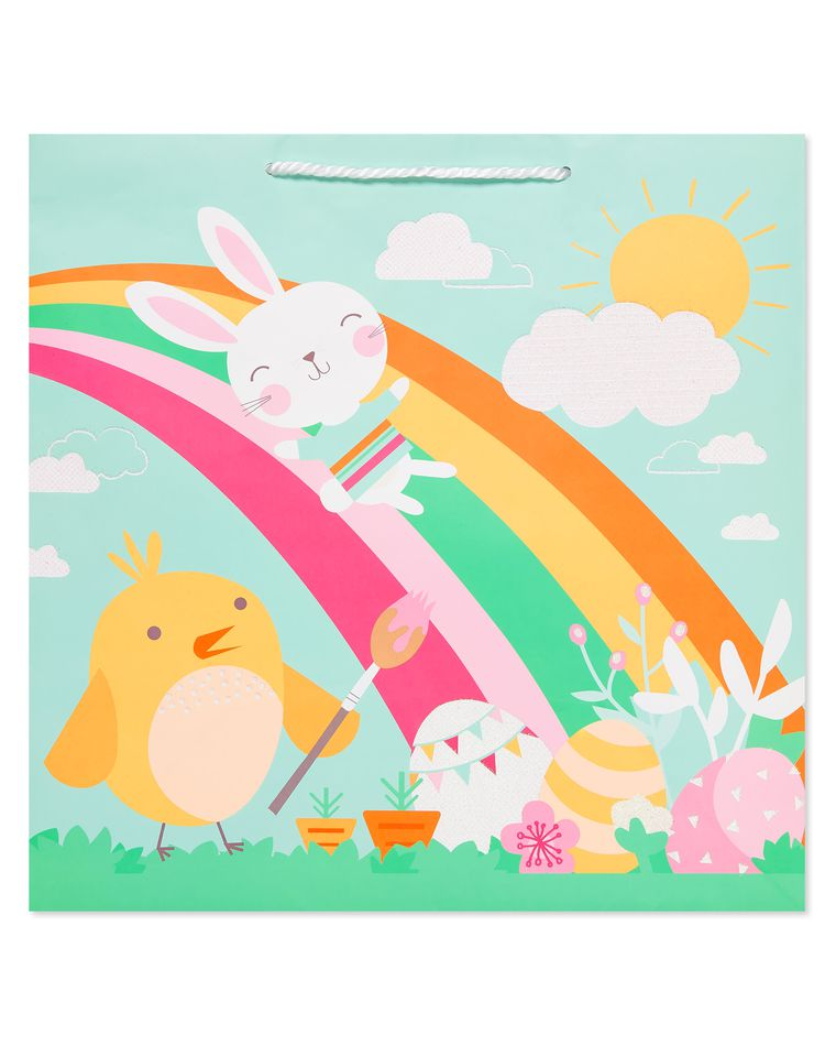 Extra Large Easter Bunny Rainbow Gift Bag