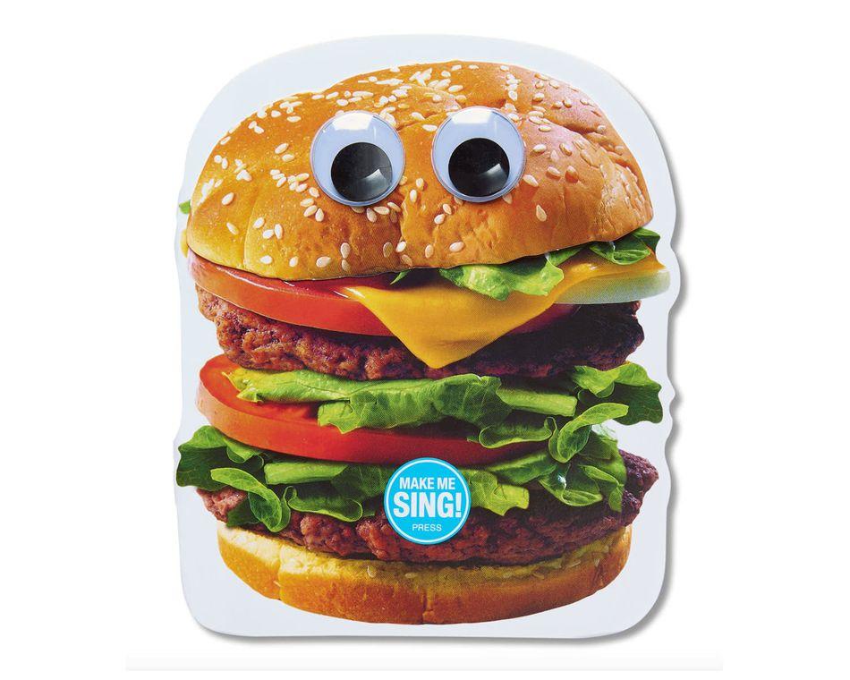 funny hamburger birthday card
