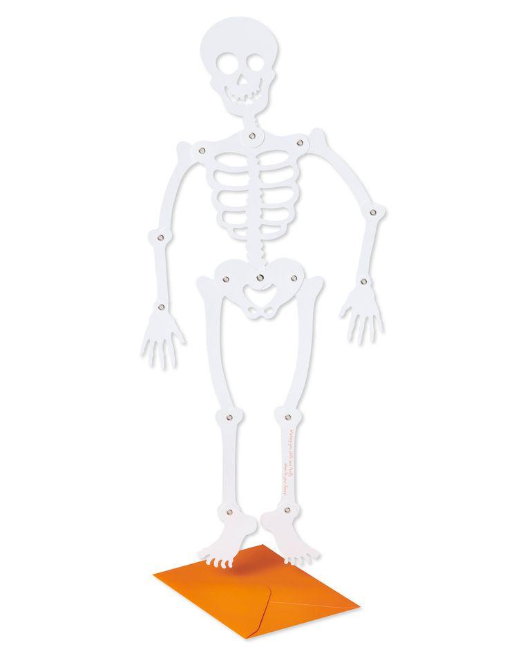 Skeleton Halloween Greeting Card