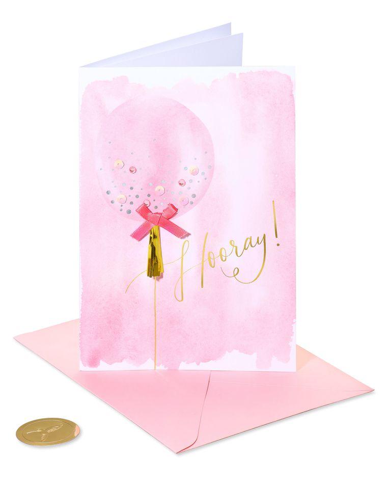 Tassel Balloon Birthday Greeting Card