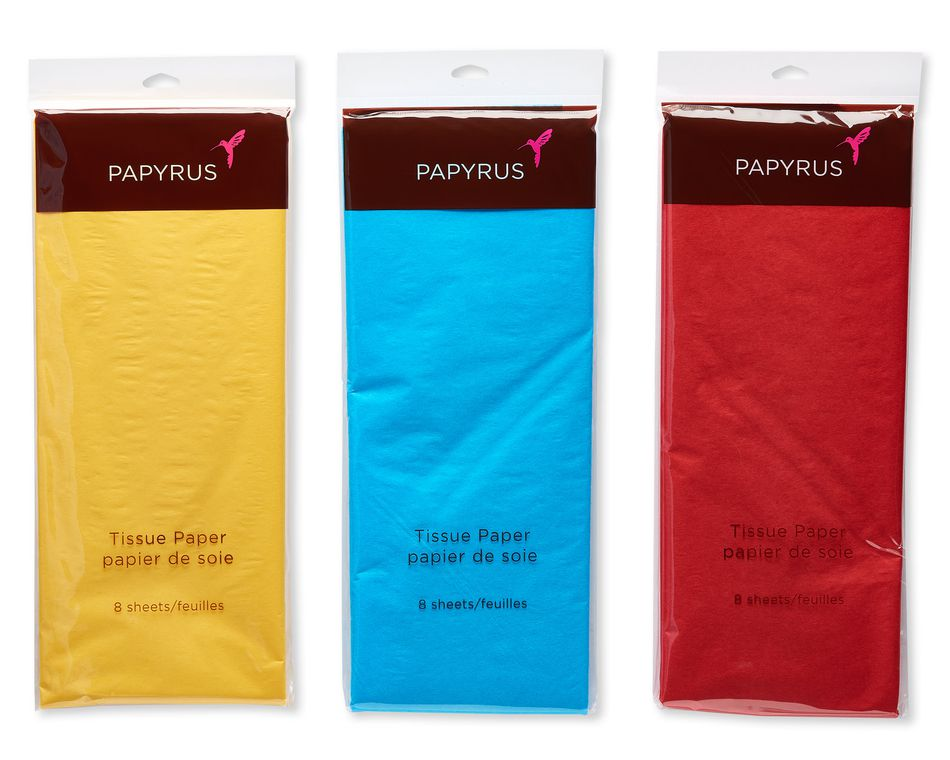 Primary Color Tissue Paper, Value Pack, 24 Sheets