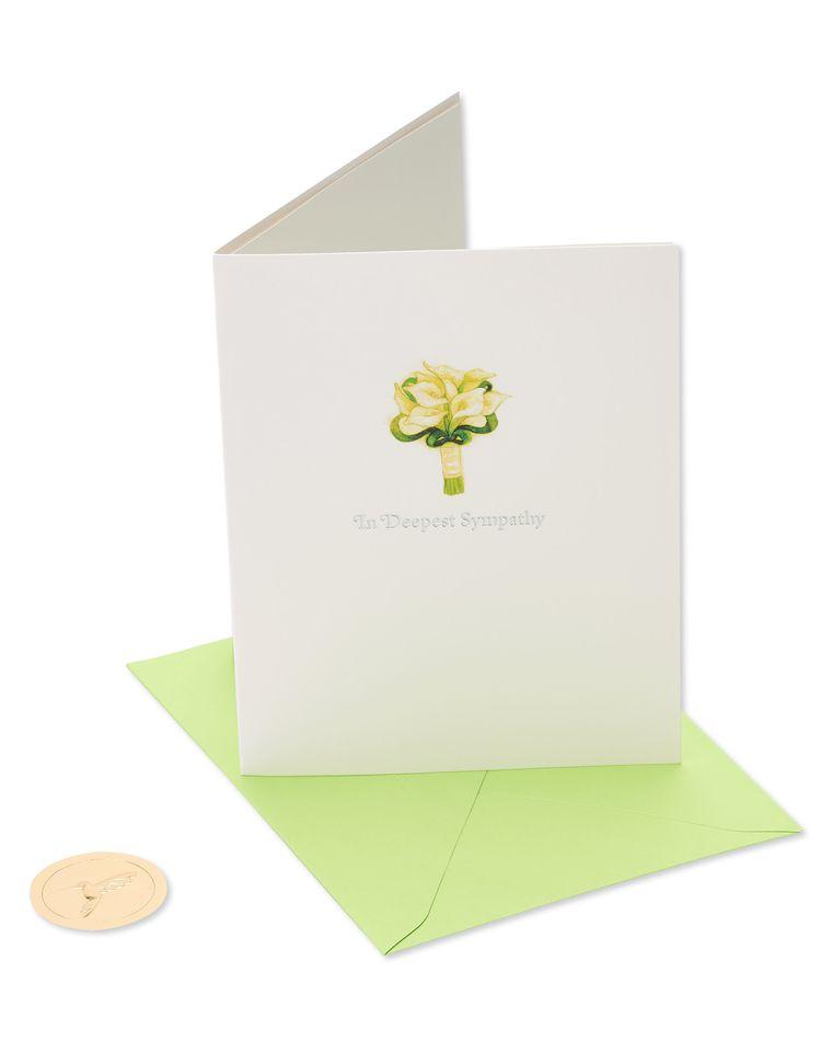 Lillies Sympathy Greeting Card