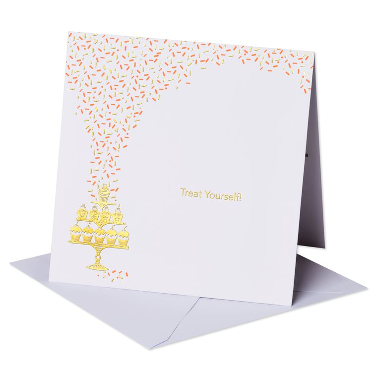 Treat Yourself Pop-Up Birthday Card