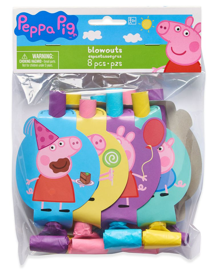 Peppa Pig Party Blowers, 8 Count