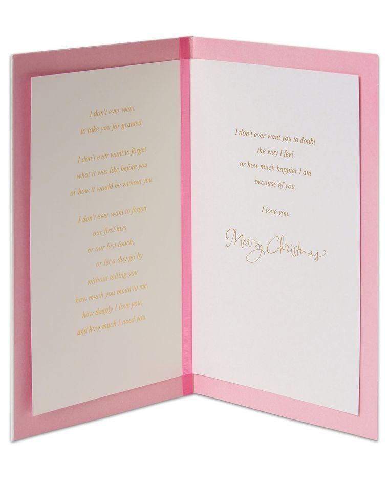 Christmas Tree Christmas Card for Wife