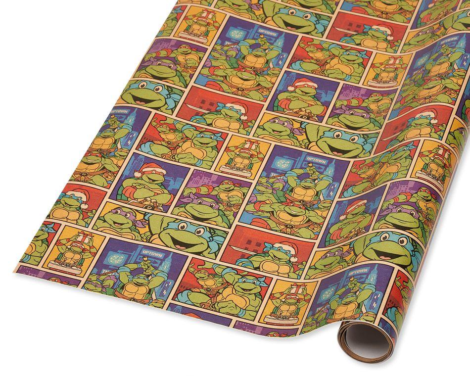 Teenage Mutant Ninja Turtles Christmas Wrapping Paper, 40 Total Sq. Ft.