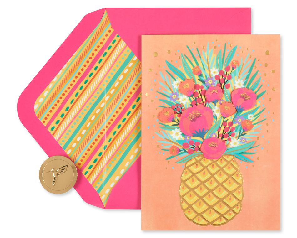 Floral Pineapple Mother's Day Card