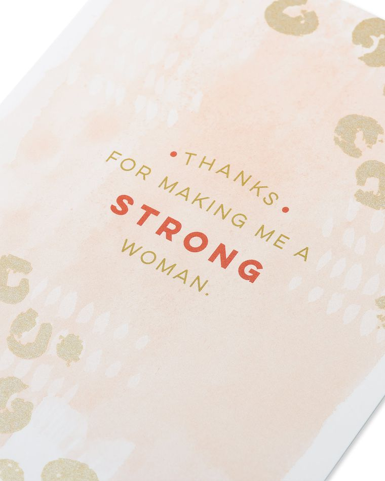 made me strong mother's day card