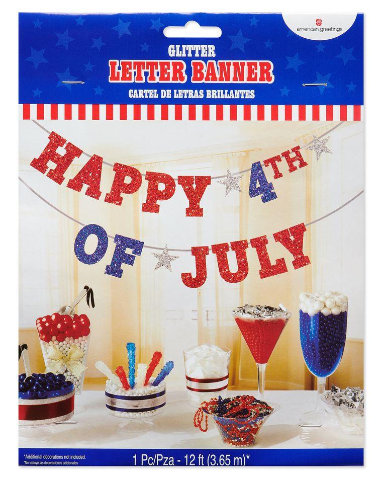 Patriotic Birthday Party Banner