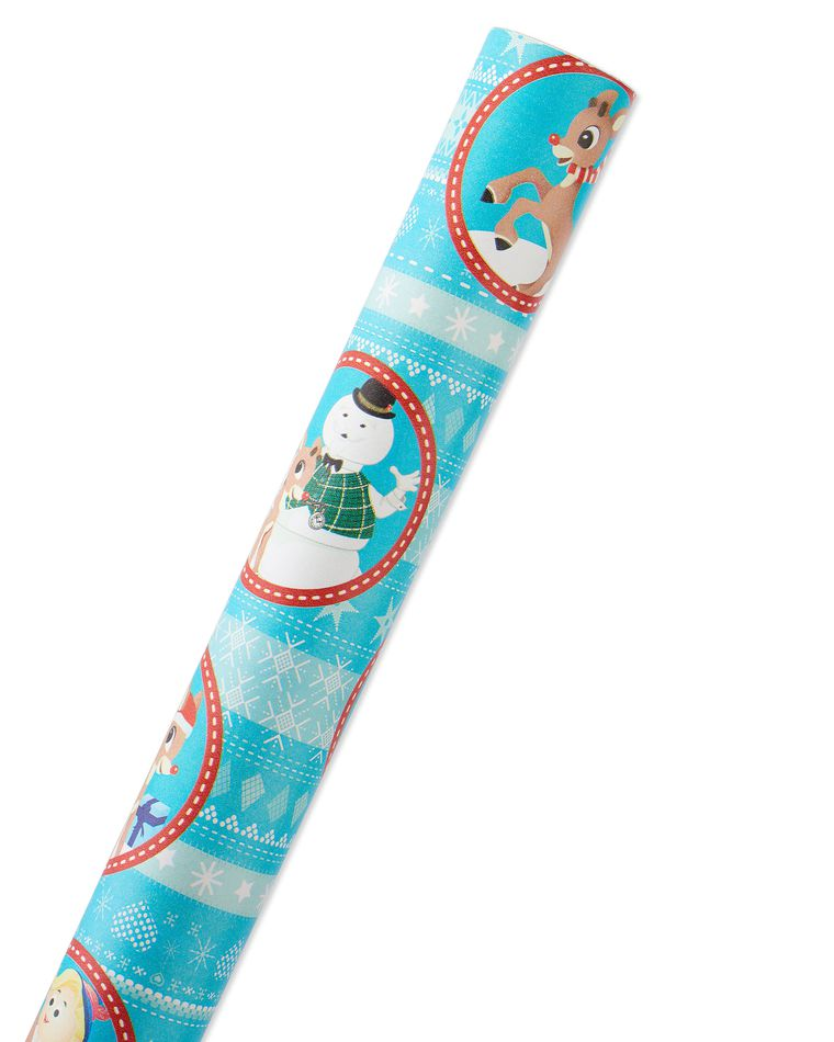 Rudolph the Red Nosed Reindeer Christmas Wrapping Paper, 40 Total Sq. Ft.