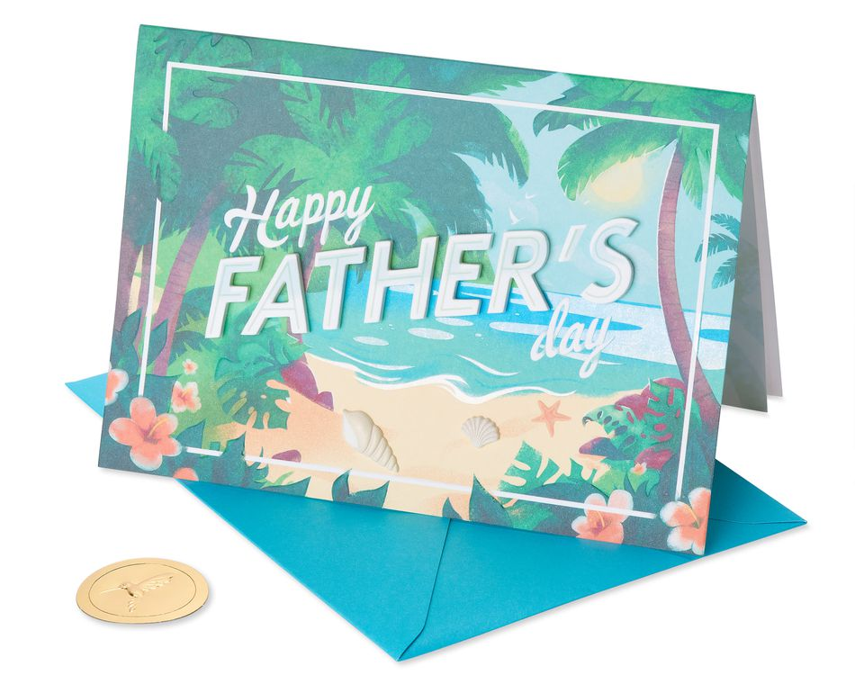 Paradise Father's Day Greeting Card