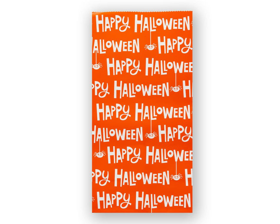 Printed Happy Halloween Treat Bag