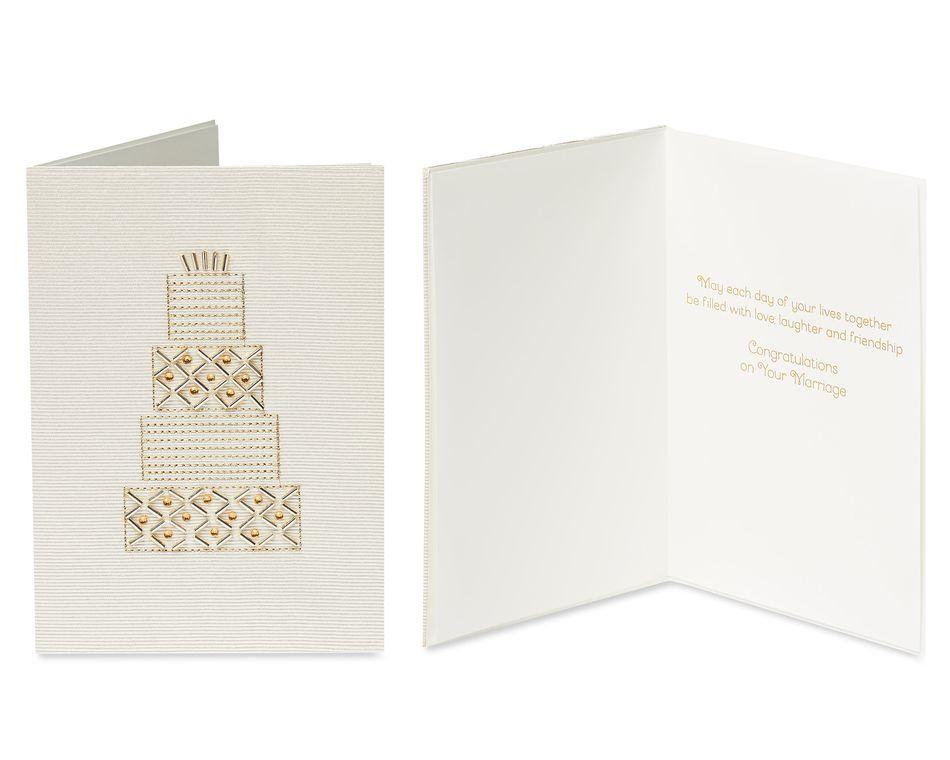 Elegant Wedding Greeting Card Bundle, 3-Count