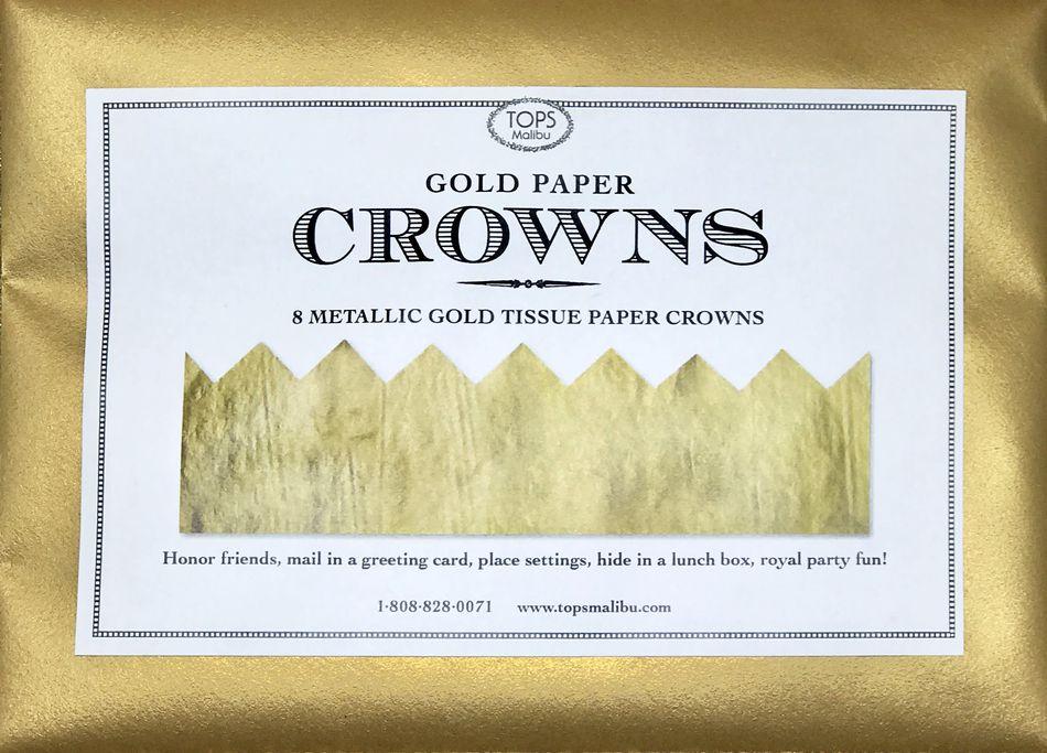 Metallic Gold Tissue Crowns, 8-Count