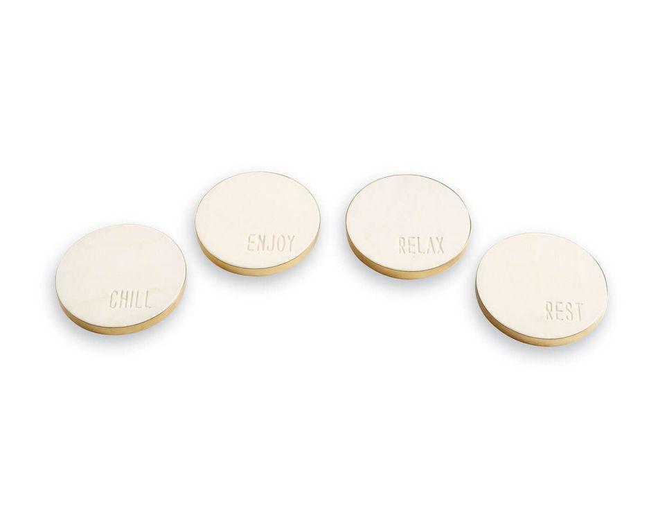 Mud Pie Marble Sentiment Coasters