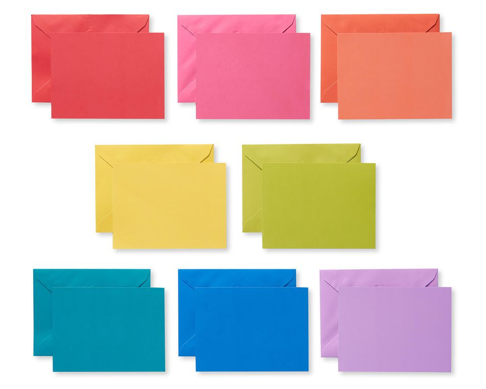 Rainbow Blank Note Cards and Envelopes, 200-Count