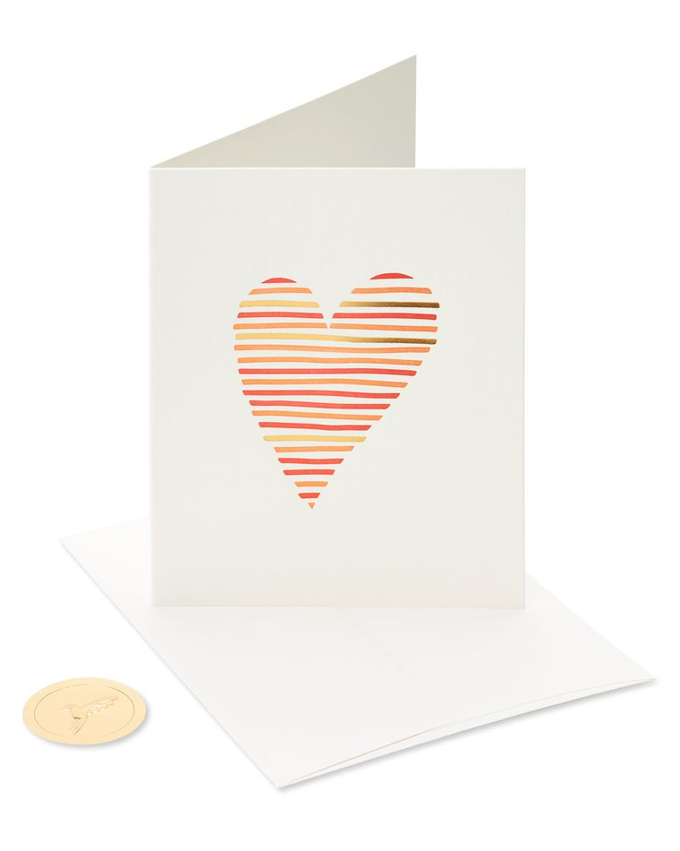 Heart for Wedding, Anniversary, Friendship Blank Greeting Card