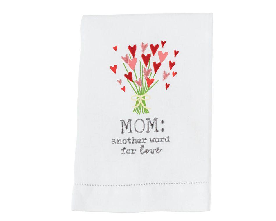 Mud Pie Heart Mom Flower Towel