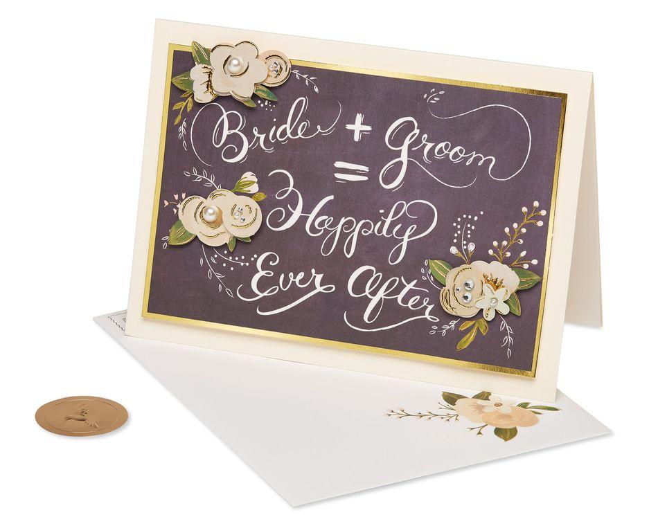 Chalkboard Wedding Greeting Card