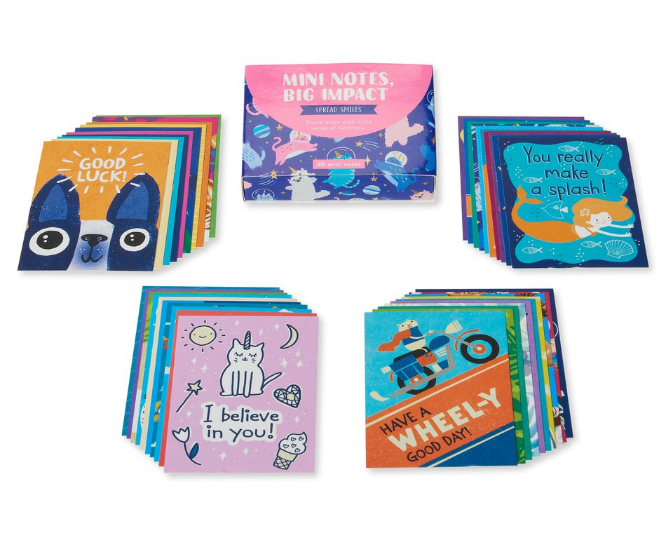 Spread Smiles Lunch Box Mini Notes, 40-Count
