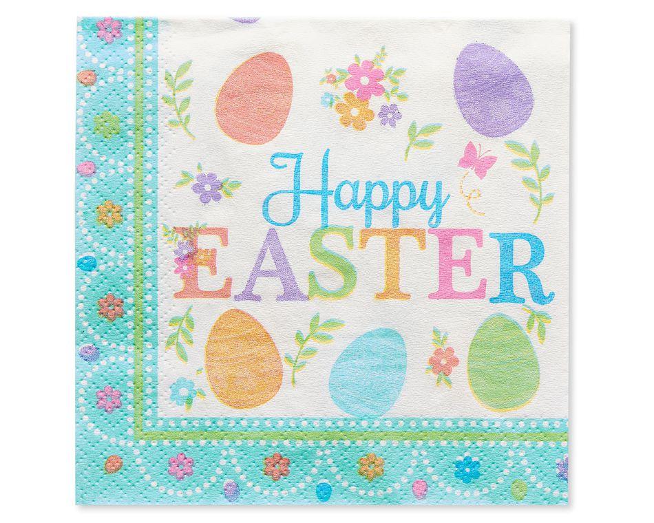 Lovely Easter Beverage Napkins, 16-Count