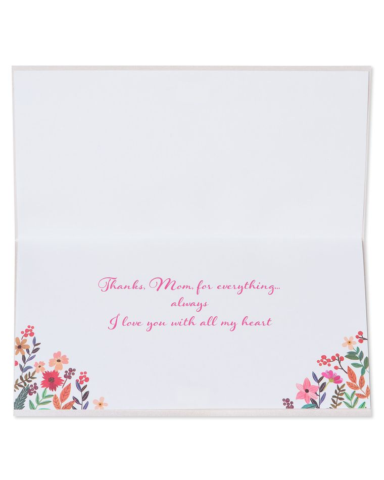 Floral Mom Lettering Mother's Day Card