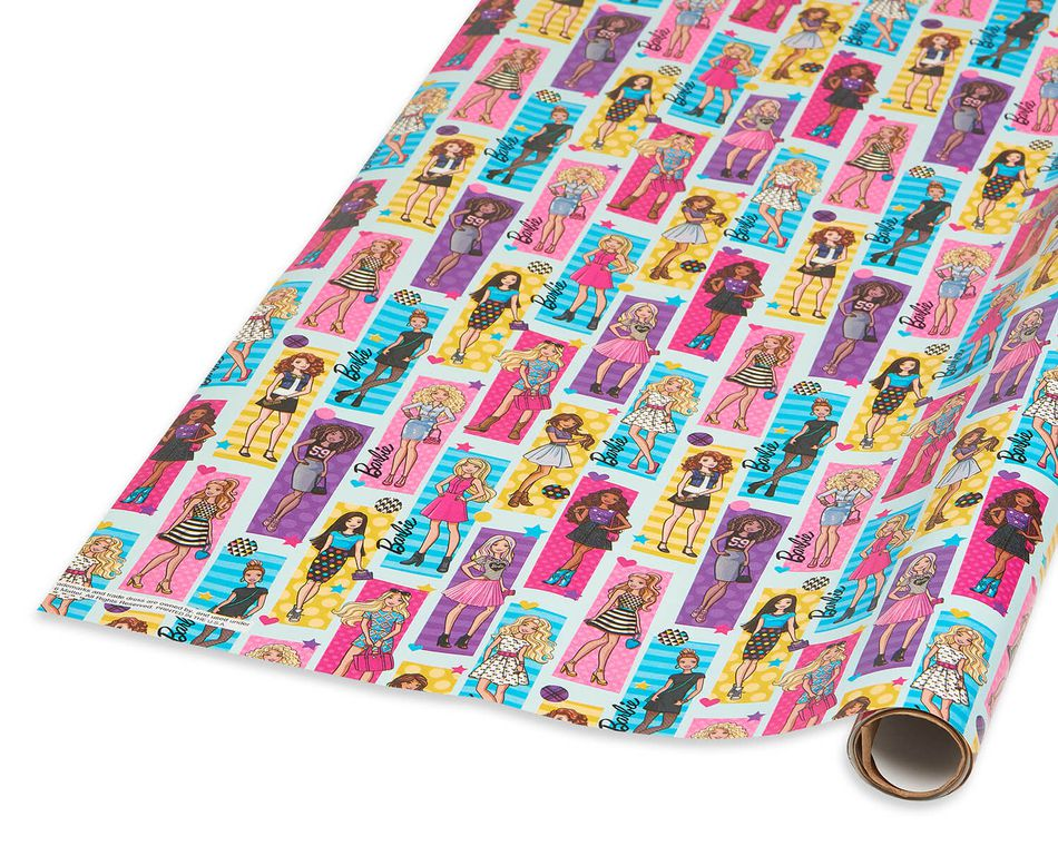 Barbie Wrapping Paper, 20 sq. ft.