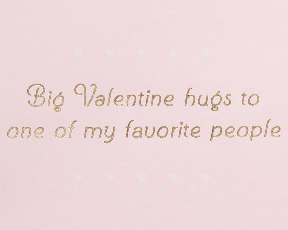 Valentine Hugs Valentine's Day Greeting Card