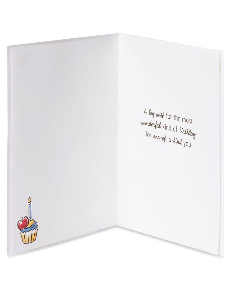 Wood Mickey Birthday Greeting Card for Him