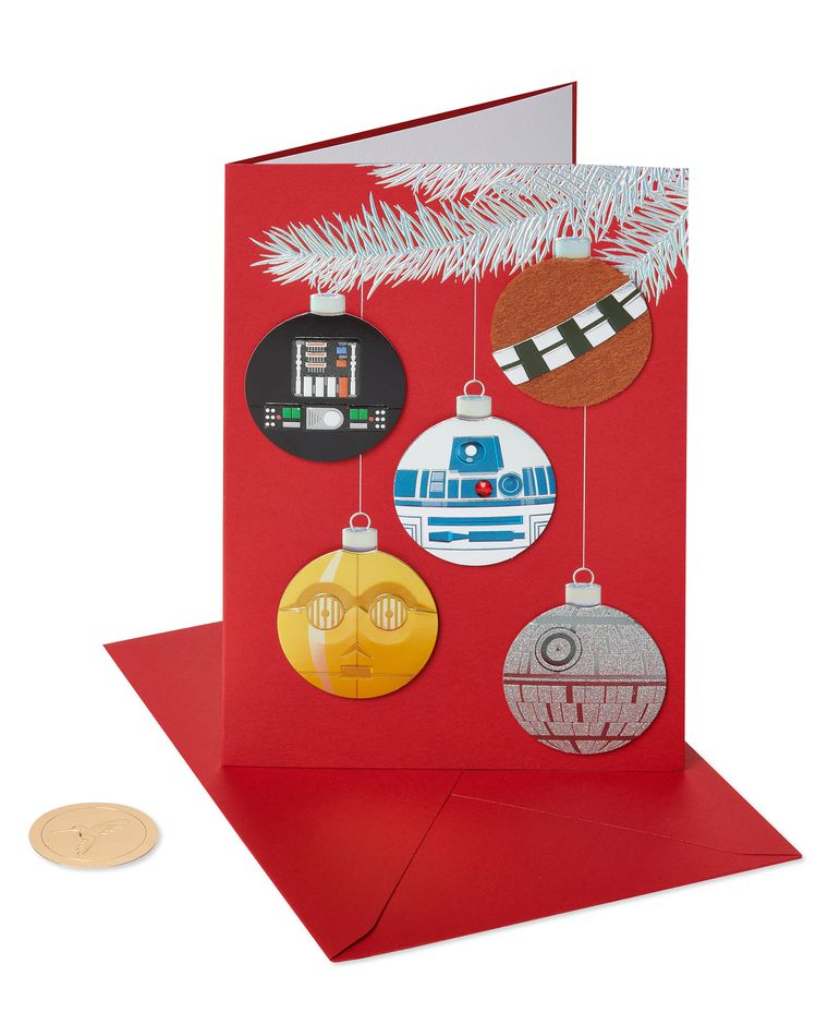 Star Wars Ornament Holiday Boxed Cards, 8-Count