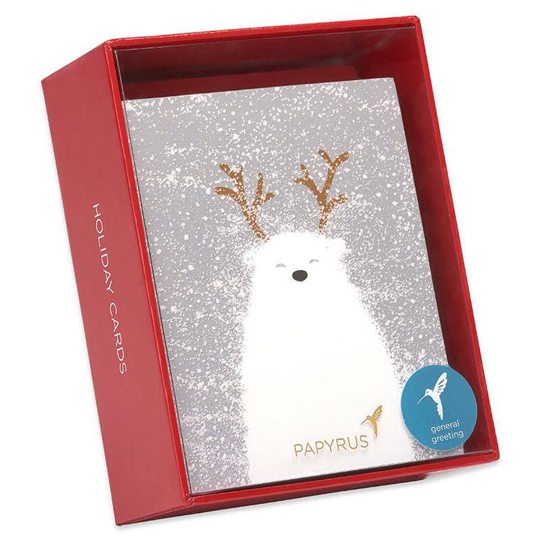 Polar Bear Holiday Boxed Cards, 20-Count