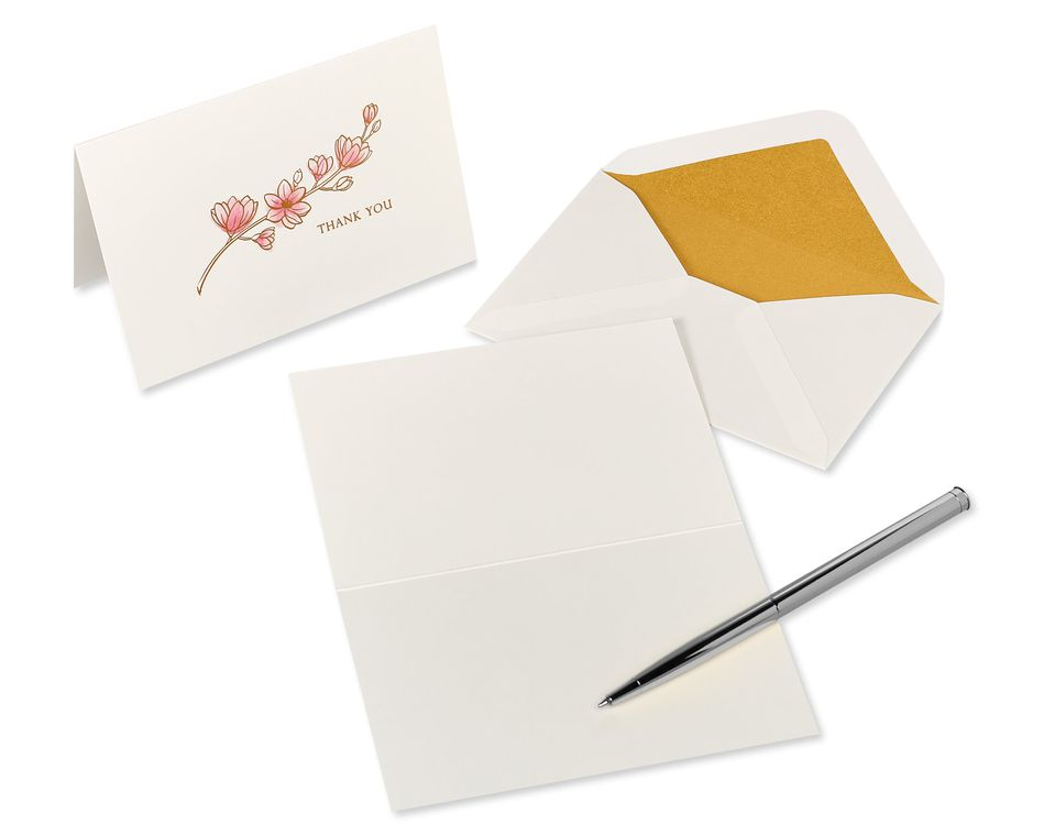 Magnolia Boxed Blank Note Cards with Envelopes, 16-Count