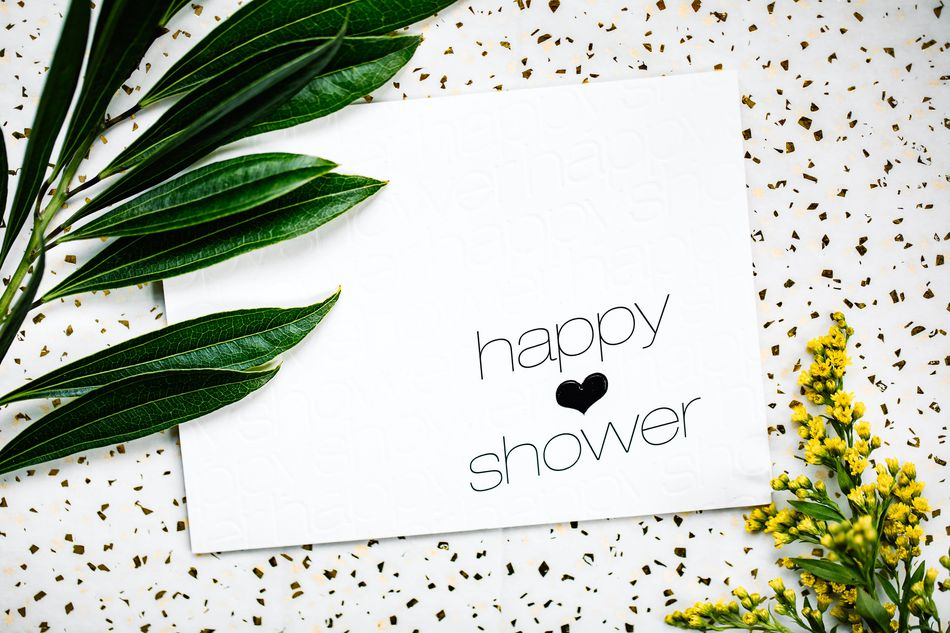 Happy Thoughts Bridal Shower Card Lifestyle Image