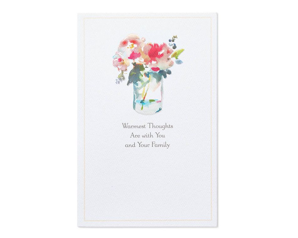 Warmest Thoughts Sympathy Card