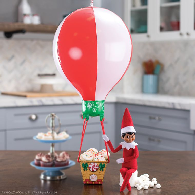 The Elf on the Shelf® Scout Elves at Play, Peppermint Balloon Ride