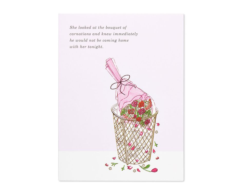 carnations valentine's day card