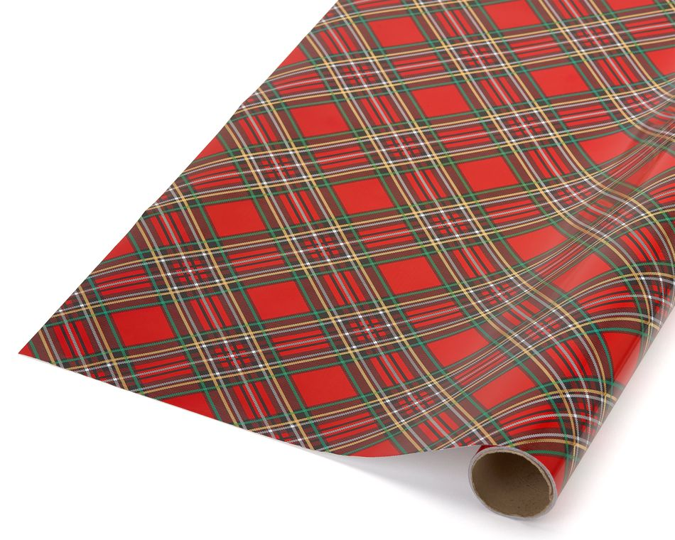 Holiday Plaid Wrapping Paper
