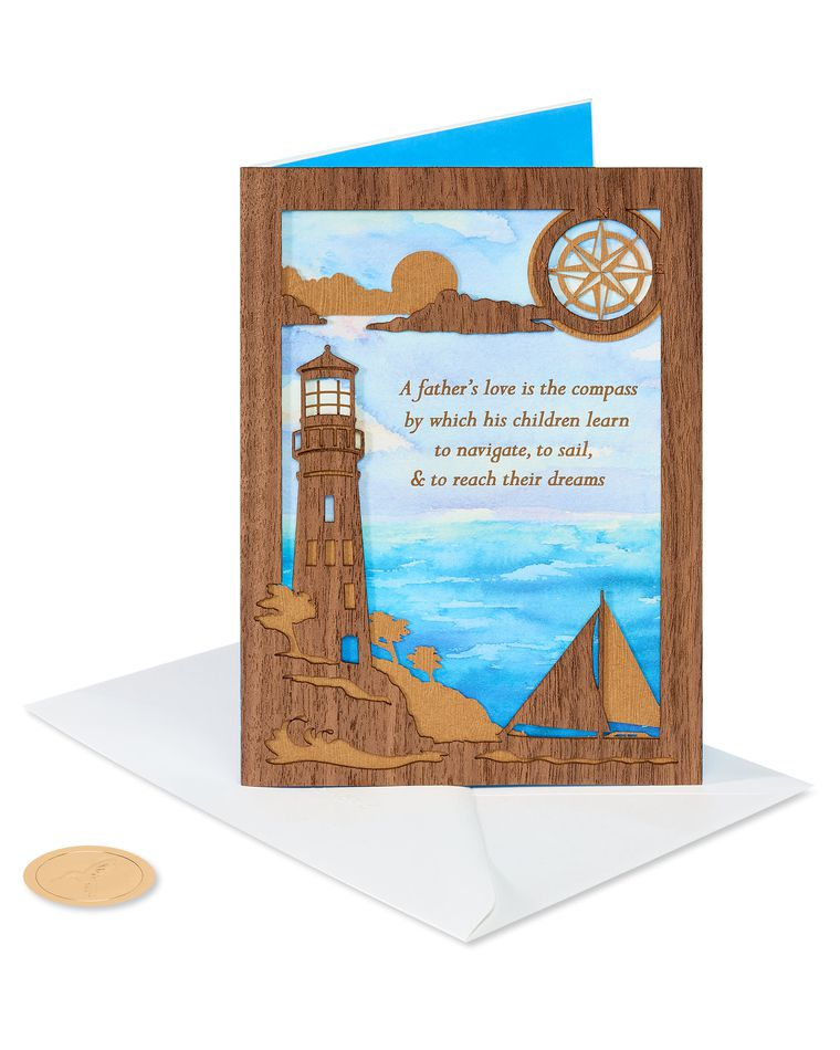 Lighthouse Father's Day Greeting Card