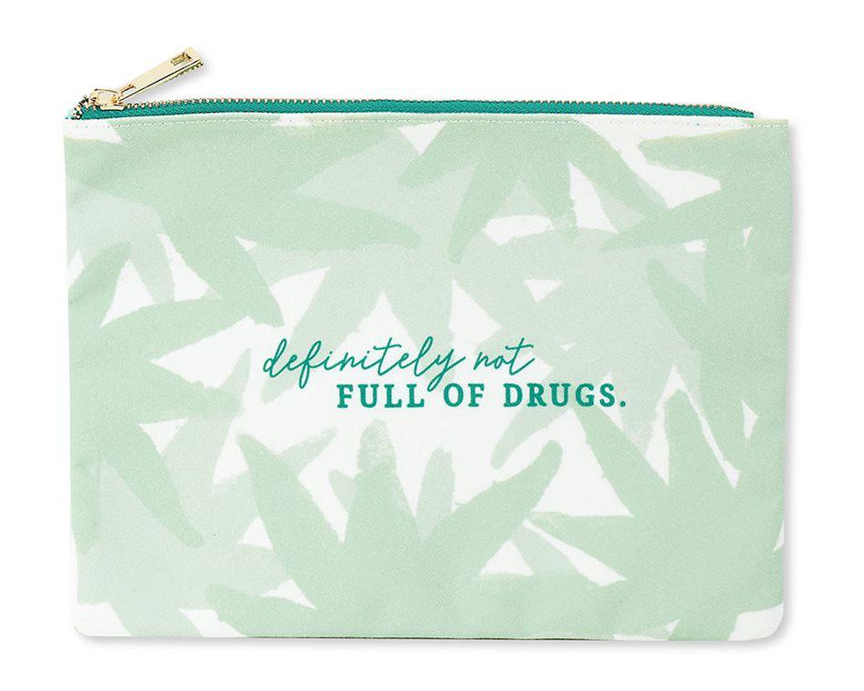 definitely not full of drugs zipper pouch
