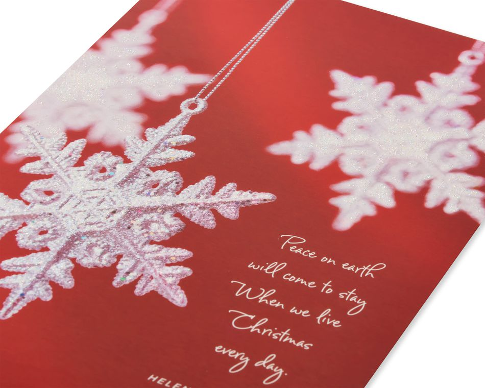 Snowflake Ornaments Christmas Boxed Cards, 14 Count