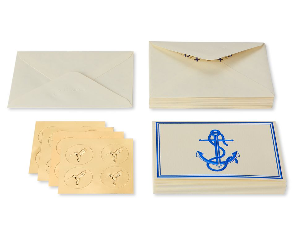 Anchor Boxed Cards and Envelopes, 16-Count