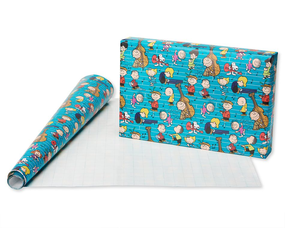 Christmas Paper and Foil Peanuts Wrapping Paper,  3-Roll, 30