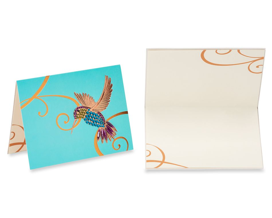 Hummingbirds Blank Greeting Card Bundle, 2-Count